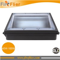 2pcs/lot 60w led wall pack 100W parking lot lamp fixture retrofit 150w 200w HPS CFL perimeter and entryway lighting exterior DLC