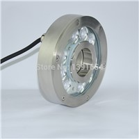 High Quality 304 stainless steel 24V 27W 160MM RGB fountain LED Light Round ring light led underwater pool light