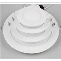 Ceiling round LED flat lamp ceiling aluminum buckle square kitchen bathroom embedded panel lamp