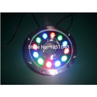 DMX512 Control Module RGB 12W Round Underwater LED Lights DC 24V Waterproof IP68 CE RoHS Outdoor Pond Lamps Fountain Lamp