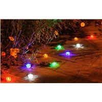 2pcs/lot Solar Lights Lamps Outdoor Lighting Garden Lawn Landscape LED Spotlights Solar Powered Panel LED Deck Floor Lights