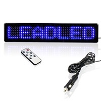 LED Signs Blue Light LED Display Module Remote Control LED Display Moving Edit Message Sign Board For Car Rear Window Outdoor