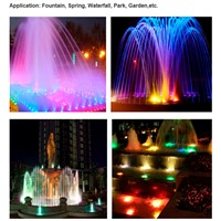 IP68 waterproof 316 stainless steel AC12V 18W 3-in-1 rgb led fountain light DMX512 control Applicable in fresh/Salt(sea) water