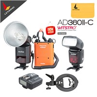 Newest Godox AD-360 MARK II AD360II-C E-TTL Portable Flash Light & PB960 Lithium Power Pack & X1C TTL Transmitter Kit