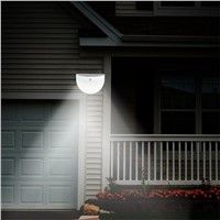 LED Solar Power motion sensor Garden Wall Lamp Outdoor Waterproof Light