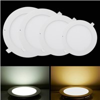 led panel lights downlights 3W6W9W12W15W18W24W lamp 3000K4000K6000k AC85to265V white warmwhite led lamp