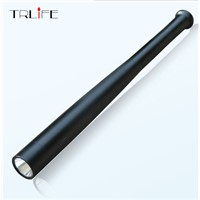 CREE Q5 LED flashlight tactical flashlight by 18650 Torch Long Light Baseball Bat Shape self defense 3 Mode