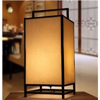 Chinese style iron fabric lampshade table decoration lamp E27 90-260v Villa dining room dimmer table lights N1202
