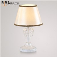 white fabric shade table lamp for bedroom led bulb included hot sale