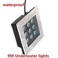 10PCS 9W Square LED underground lamps Buried light outdoor light ground floor recessed lamp 110V 220V waterproof buried light