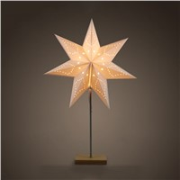 Led Desk Lamp Table Light Paper Star Wood Lamp Nordic Design of Modern Retro Minimalist Bedside Living Room Table Lamps