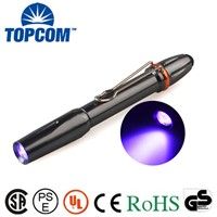 Metal Aluminum High power 395nm UV Black Light Penlight for Detecting Fluorescer Counterfeit Banknotes Money Watermake