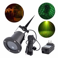 AUCD Portable RG Outdoor Green Red Laser Projector Lights Landscape Garden Yard Home Party Xmas Tree Lighting OW-100RG