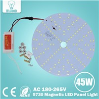 180-265V LED Lamp Round 10W 15W 18W 21W 25W 35W 45W 5730 Magnetic LED Ceiling Panel Light Plate Aluminium Board for Home DIY