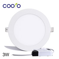 AC110/220V LED Panel Light 3W LED ceiling Light Round Ultra thin LED downlight