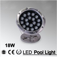 18W LED Fountain lamp Stainless steel IP68 Safety AC12V/ 24v  Swimming Pool/Ponds/Fountain Outdoor Recessed lighting