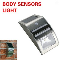 Solar Powered PIR Motion Sensor LED Security Light Garden Wall Outdoor NG4S
