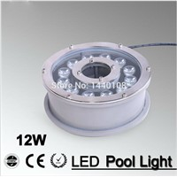 2pcs/lot RGB 12W Led Underwater Light, DC12V Waterproof IP68 Underwater Spotlights/Fountain/Pool Light