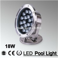 2pcs/lot  RGB LED Pool Light IP68 DC12V 18W Stainless Steel LED Underwater Light Swimming Pool Led marine yachting for Fountain