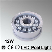 5pcs/lot RGB 12W Led Underwater Light, DC12V Waterproof IP68 Underwater Spotlights/Fountain/Pool Light