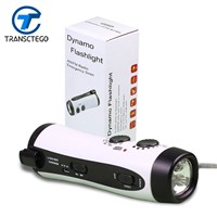 GREEN Multifunctional LED Dynamo Flashlight Emergency Alarm flashlights Radio/Mobile Charging