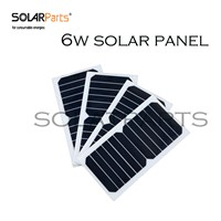 Solarparts 4pcs 6V/6W 1A high efficiency mono cell   solar panel solar module Sunpower DIY kits /toys/light /phone  charger