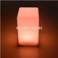 6 pieces/lot colorful changeable rechargeable quadrate LED bar table lamp dimmable led night light for bar decoration