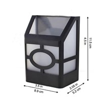 Solar Powered 2 Led Landscape Wall Light Waterproof Check Pattern Decoration for Path Pool Courtyard Garden Driveway Gazebo Path