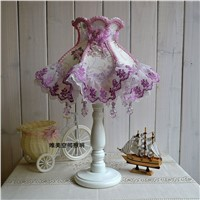 Table lamps European Style Lace Wedding Garden Lamp cloth exquisite romantic Korean Princess bedside lamp