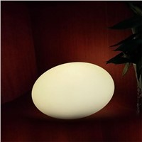 Creative Modern Waterproof Egg Stone ABS Led RGB Table Lamp for Bar Bedroom Living Room Camping Remote Control Night Light 1331