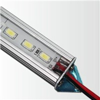 LED Light bar with Accessories plug 72 LEDs/meter SMD5630 12V Input Rigid strip light  With U-Aluminum sheet for cabinet