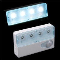 Lumiparty Portable LED Infrared PIR Auto Sensor Motion Detector Light Lamp Dual-window Infrared Sensors Night Light