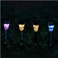 6pcs/lot Solar Powered Lawn Lights LED Outdoor Pathway Decorative Landscape Sun Lights Lamps Sunlight Garden Path Spot Luminaria