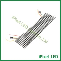 8*32 Pixels Matrix SK6812/WS2812 LED Digital Flexible Panel screen 5050 RGB SMD