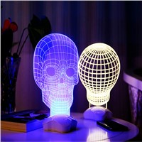 BIg Ball Bulb Lamp Night Light  3D Visual LED Night Light Creative Lava Table Lamp Novelty Lighting luz de noche