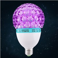 E27 AC 220V Rotating Colorful LED RGB Light Lamp Bulb for DJ Disco KTV Party Stage (White)
