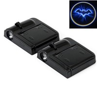 2 pcs Car door projector LED logo Projector Laser Car Door Shadow Welcome Light wireless door light For BMW