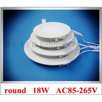 recessed embeded mounted round ceiling LED panel light lamp LED downlight down light flat light 18W AC85-265V 225mm*225mm CE