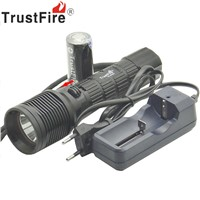 Trustfire DF007 Diving Flashlight Cree XML-2 Magnetron Switch Underwater LED light torch BY 26650 battery