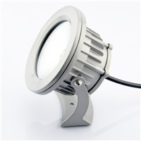 AC85-265V Input 10W LED Lawn Light IP65 Waterproof Park Garden Path Way Spotlights, 1pcs Lamp + 1pcs Fixed Plunger