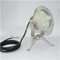 304 stainless steel 18W Underwater Spot Light Single Color Fountain LED light Color Changing Underwater Lamp 4pcs/lot