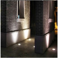 5pcs/lot LED Yard Buried Lamp Outdoor Pathway Square Accent Lighting 3w 12V 304 Stainless steel underground light