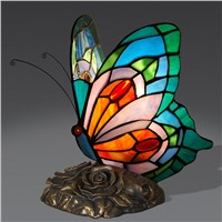 Butterfly small night lamp of bedroom the head of a bed, her small desk lamp