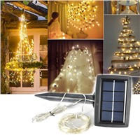 Boruit 150 LED Fairy Lights String Warm White Solar Power Garden Yard Decoration Light New Years Christmas Party Home Decor Lamp