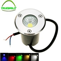 LED Underground Lights DC12V  3W  IP65 Buried Recessed Floor Outdoor Lamp COB garden lighting yard red green blue
