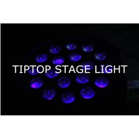 TP-P80B Stage Light 18*18W Led Par Zoom Light RGBWA UV 6IN1 UV WIRELESS DMX Par Can DJ Uplighting Up Light Black Color Aluminum