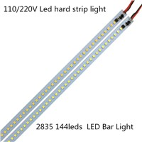 10pcs*100cm Super Bright Hard Luces Bar light AC 220V 110V 2835 168leds Aluminum Alloy LED Bar Light For home Cabinet Kitchen