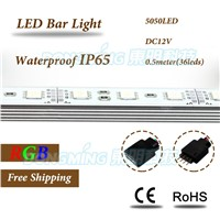 100pcs 50cm led aluminium profile with U groove 5050 36leds led hard strip waterproof IP65 led strip light bar connector