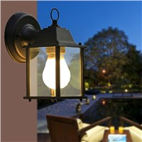 1X European Style Outdoor Led Porch Lights Wall Sconces Waterproof Outdoor Lamps for Balcony/Aisle/Corridor/Garden(Black)