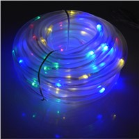 Newest Waterproof 10M 100 LED Solar Rope Tube Led String Strip Fairy Light Outdoor Garden Xmas Party Decor Fence Landscape